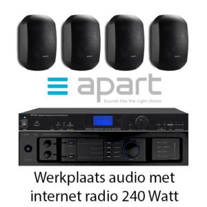 Werkplaats audioset 240 Watt